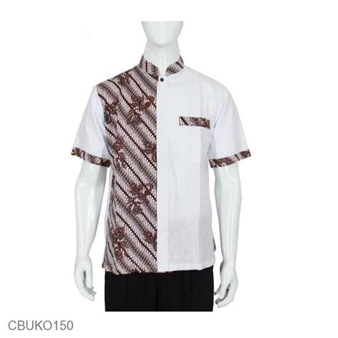 Katun Daun koko batik katun motif parang pancing daun kemeja lengan