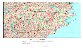 large detailed administrative map of carolina state