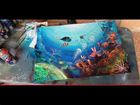 spray paint city tutorial spray paint coral reefs