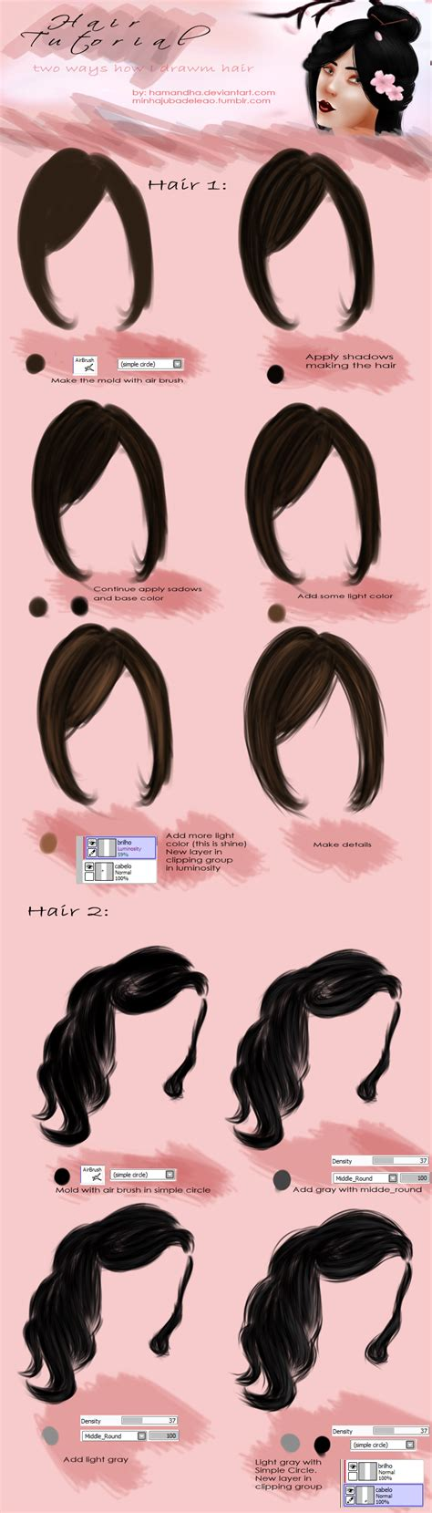 paint tool sai drawing hair hair tutorial paint tool sai by hamandha on deviantart