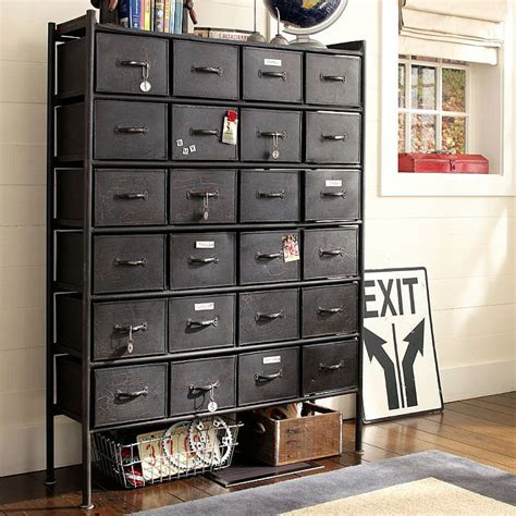 Resembling an antique file cabinet, this Rockwell Metal