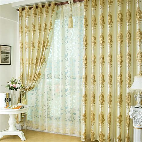 shabby chic living room curtains shabby chic insulated striped yellow faux silk living room curtains