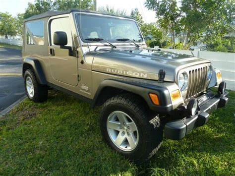 used jeep rubicon 4 door sell used 2005 jeep wrangler unlimited rubicon sport