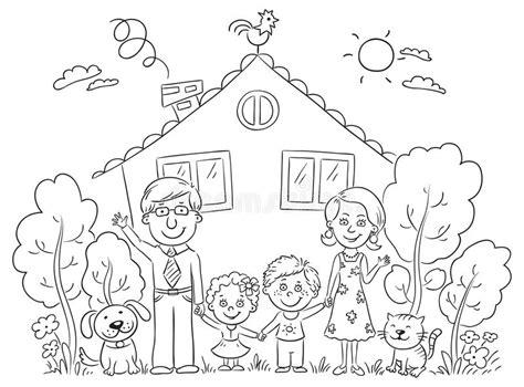 familie  haus entwurf vektor abbildung illustration