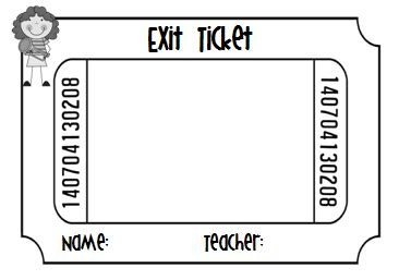 ticket out the door template exit ticket clipart clipart suggest