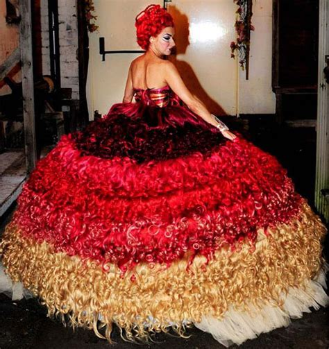 Dress Made From Human Hair Would You Wear It by Wedding Dress Made Of Human Hair Things