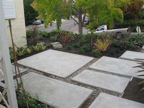Modern Concrete Patio, Oakmore, Oakland Columbine
