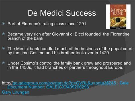 medici bank the de medici family