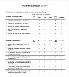 dental patient satisfaction survey template patient satisfaction survey sle