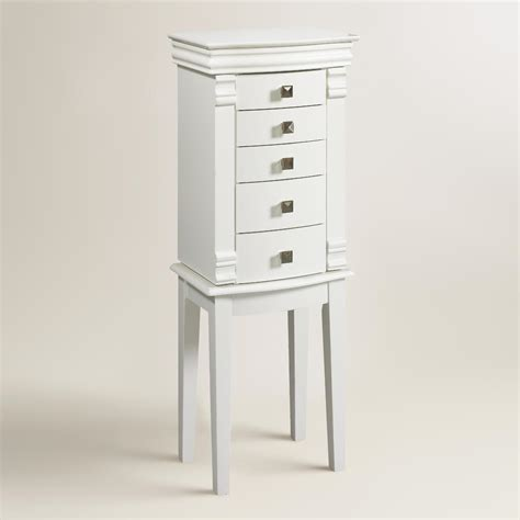 white jewellery armoire white kari jewelry armoire world market