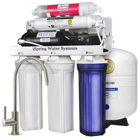 under sink reverse osmosis water filter ispring 6 stage under sink reverse osmosis water filter