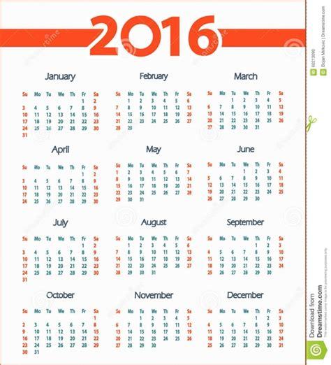 Calendario 2016 En Semanas Calendarios Por Semana 2016 Free Calendar Template