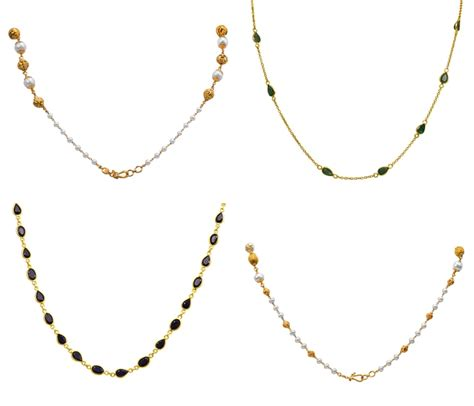 gold black chains models gold chains designs south india jewels