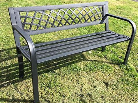 3 seater metal garden bench discounted furniture store 187 express trading 174 black 3