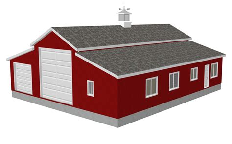 Shop Plans And Designs | sdsg450 60 x 50 10 rv workshop apartment barn plans