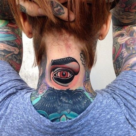 eyeball tattoo on neck eye tattoos and designs page 161