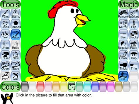 kids online paint and draw activity kids software tux paint screenshots