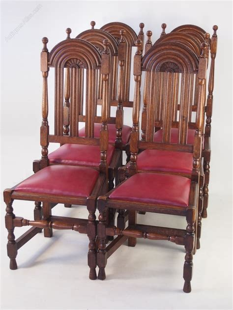 Oak Dining Set 6 Chairs Set 6 Liberty Co Lochleven Oak Dining Chairs Antiques Atlas