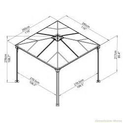 Gazebo Dimensions by Palram Palermo 3000 Gazebo Greenhouse Stores