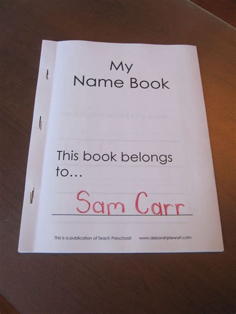 i my name books my name book a preschool printable