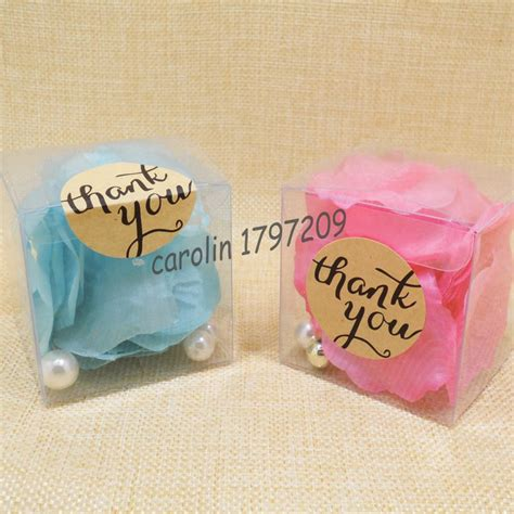 Thank You Gifts For Baby Shower Guests by 20pcs Clear Pvc Boxes Wedding Favor Box With Thank