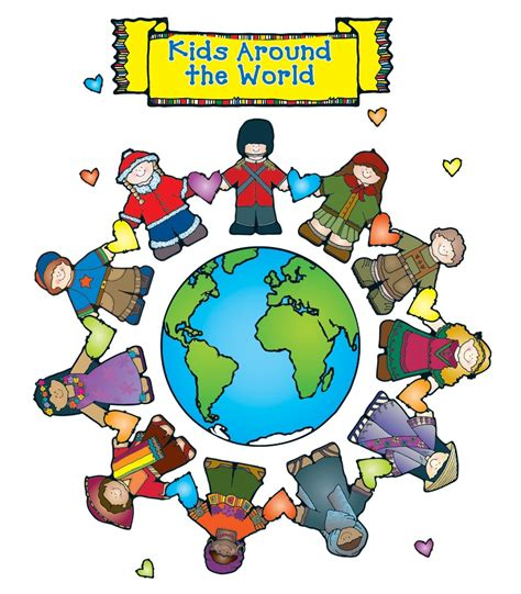 themes in multicultural education kids around the world bulletin board set grade pk 2