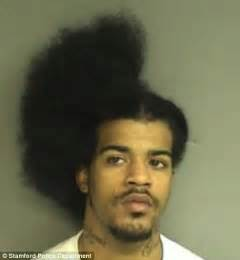 police hairstyle david davis mugshot after scissor slashing a man while