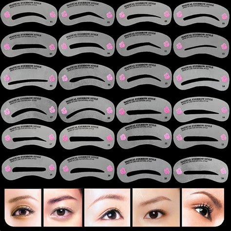 eye brow template 17 best ideas about different eyebrow shapes on