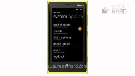 resetting nokia phone to factory settings how to factory reset nokia lumia 920 youtube
