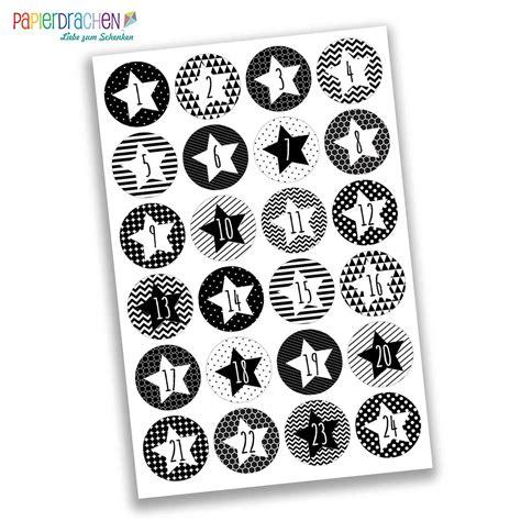 Sticker Zahlen Adventskalender by 24 Adventskalenderzahlen Aufkleber Geometrische Sterne