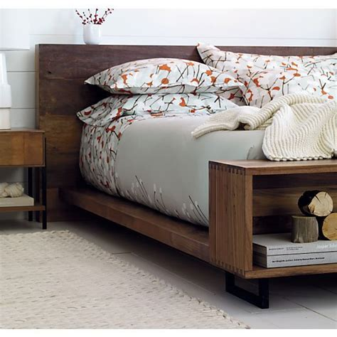 wooden crate bed frame low beds crate and barrel and inspiration on pinterest