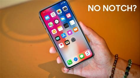 apple to ditch the iphone x notch from future iphones