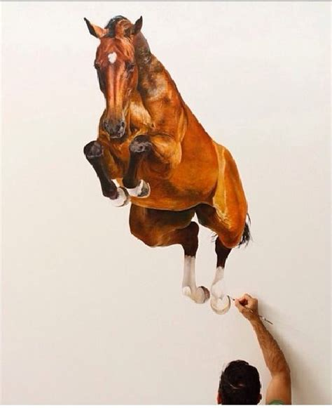 Photo Realistic Wall Murals equine art in motion even while still bored art