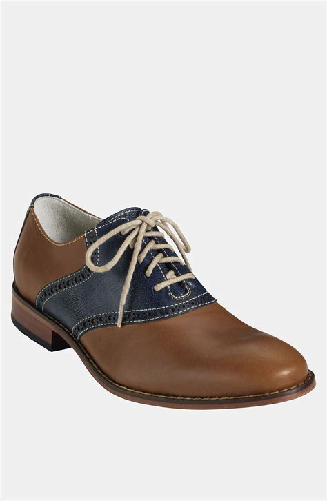saddle shoes cole haan air colton saddle shoe in brown for cognac