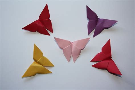 Origami Butterfly Simple - late summer origami