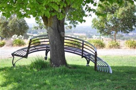 half tree bench wrought iron tree seat and steel tree bench farmweld