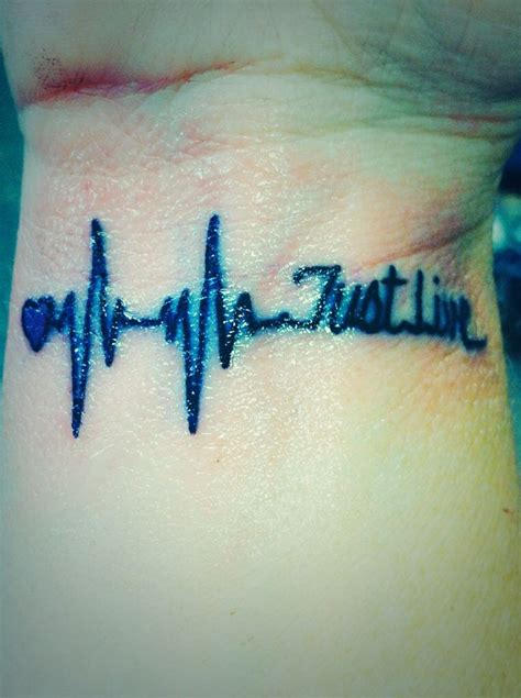 just live tattoo loving my new just live my