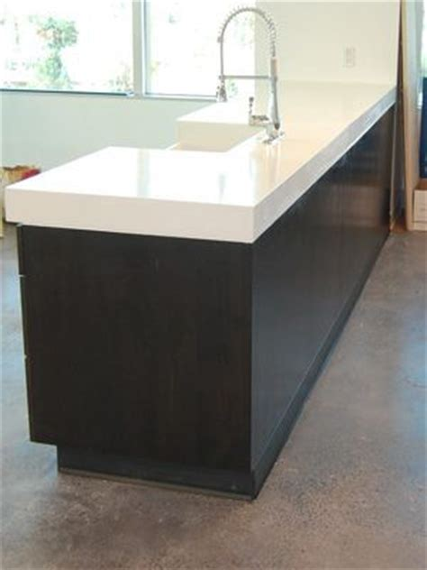 we poured this beautiful white concrete countertop using