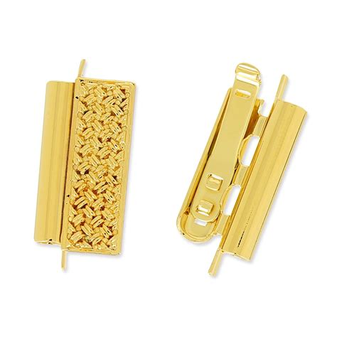 clasp beadslide for bead weaving to clip decorated 22x13mm