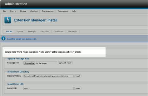 tutorial joomla plugin how to change a joomla 2 5 plugin installation description