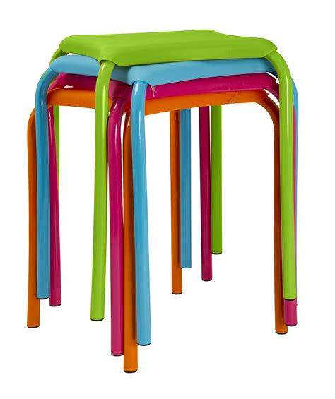 spizy neon coloured childrens stools nationtrendz