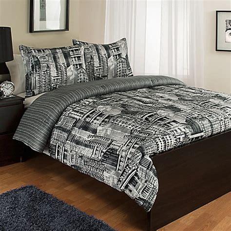 twin reversible comforter sets buy madison avenue reversible twin comforter set from bed