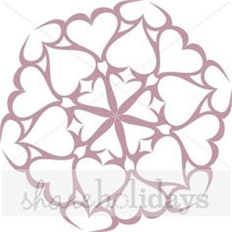 printable heart snowflake template holiday printable on pinterest paper snowflakes