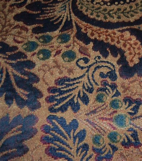 textiles upholstery hd697 motif medallion floral sapphire chenille fabric
