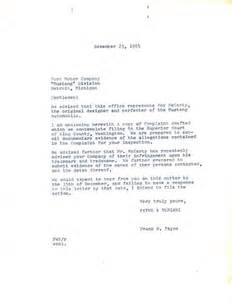 Complaint Letter To Ford Motor Company El Mustang De 1949 Que No Firm 243 Ford Sino Mccarty