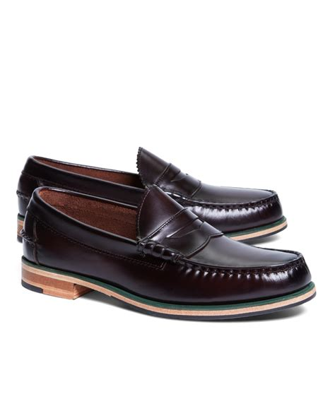brothers loafer brothers tumbled leather popped midsole