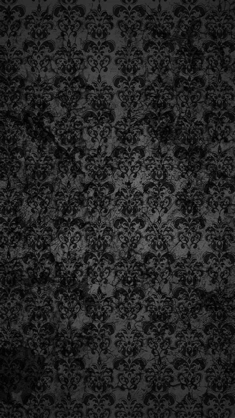 Black Lace Pattern Android Wallpaper free download