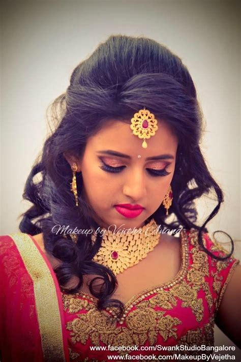 indian hairstyles on lehenga ashwini looks like a diva for her reception in a bridal