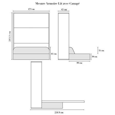 armoire lit escamotable 160x200 blanc canap 233 achat