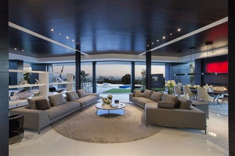 living room in mansion extravagant contemporary beverly hills mansion with